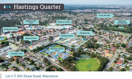 Aerial photo of Hastings Quarter, Wanneroo and surrounding area