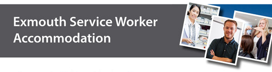 Exmouth Service Worker Accommodation banner