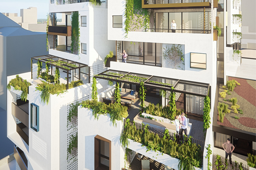 Artist impression of Pier Street apartment development