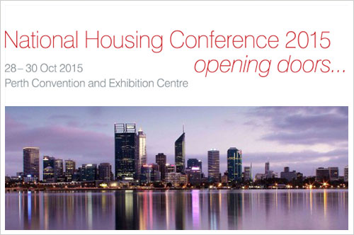 National Housing Conference Perth October 2015