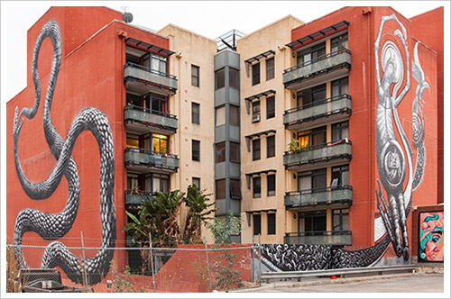 Department of Housing walls transformed by impressive art