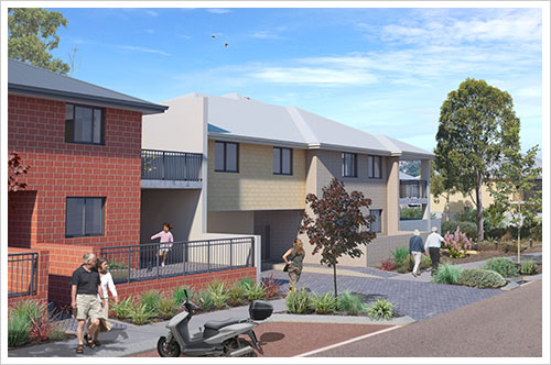 An artist's impression of the completed Parkside development
